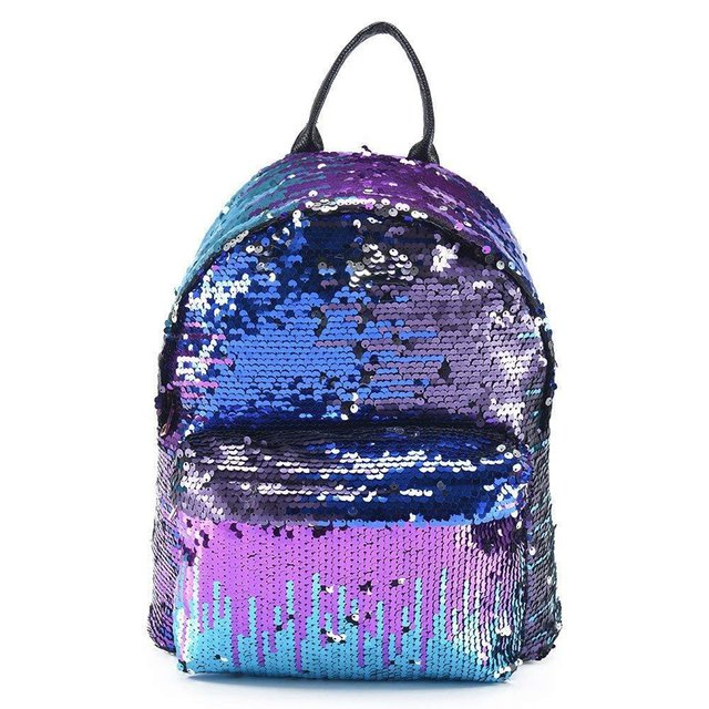 Fashion Women Backpack Girls Sequins PU Leather Rucksack Shoulder School Small Travel Bling Backpacks Feminina A4