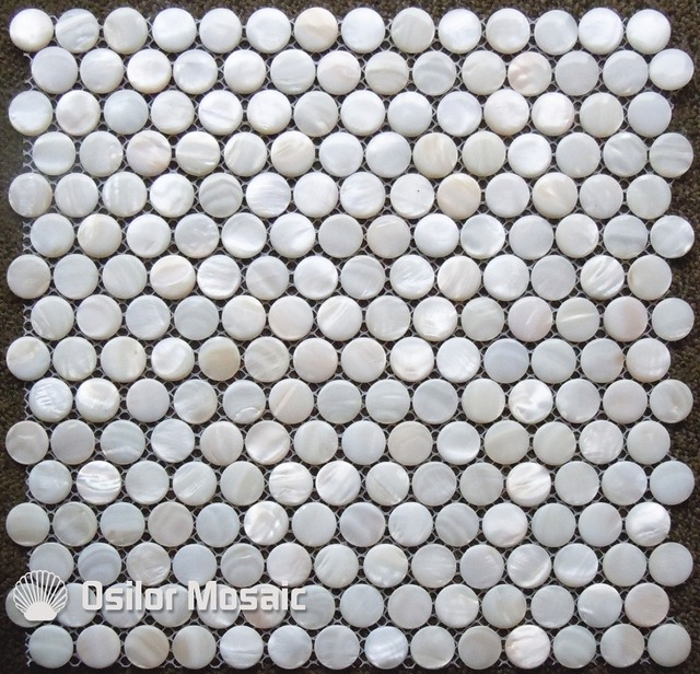 Natural white color 100% Chinese freshwater shell convex seamless mother of pearl mosaic tile for bathroom decoration wall tile