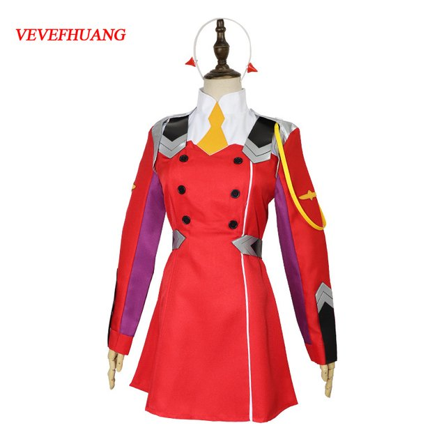 VEVEFHUANG Zero Two Cospplay DARLING in the FRANXX Cosplay Costume Anime DARLING in the FRANXX CODE:002 Costume Zero Two