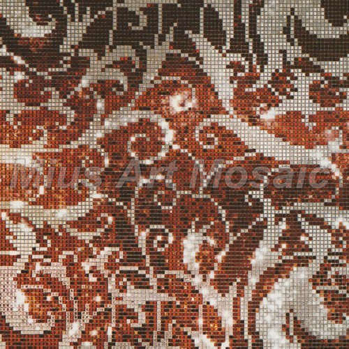 Custom glass mosaic  pattern glass mosaic tile  puzzle for art wall decoration 023