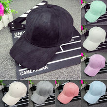 2018 New arrival Men Women Suede Baseball Solid Caps Snapback Visor Sun Adjustable Hat