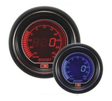 Free shipping 60mm LCD two color BOOST TURBO gauge Digital Auto Gauge  RED/BLUE Light SMOKE LENS boost Meter LCD6007 BAR