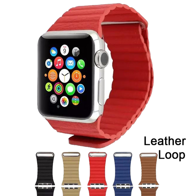 New Magnetic Leather Loop For Apple Watch band Strap Fitness 42mm 38mm for iWatch Band Sport Edition Wholesale Midnight blue