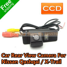 Nissan Qashqai Car Rear View Camera with Waterproof IP67 + Wide Angle 170 Degrees + CCD + Free Shipping