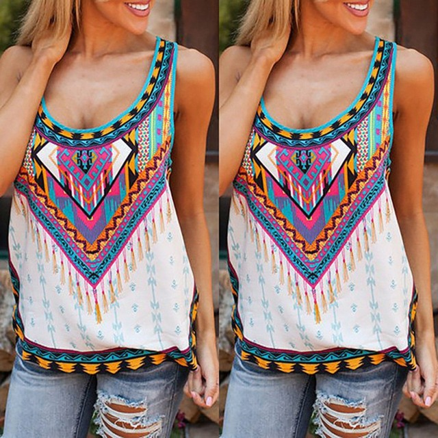 Fashion Women's Ladies Printed Sleeveless Halter Camis Tank Tops Loose Camisole Female Vest Sexy Summer Clothes P2