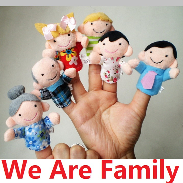 Lovely Baby Finger Puppets Educational Toy Family Story Hand Cloth Doll