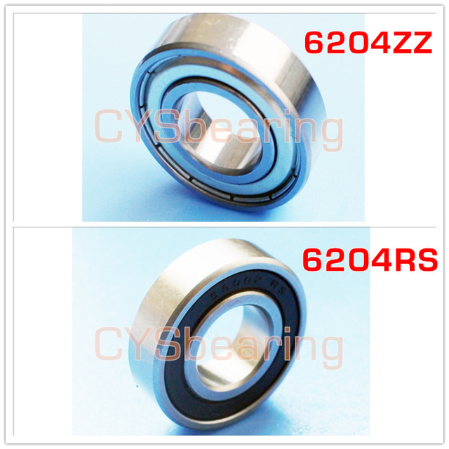 stainless steel 440 304 S6204 2RS 20X47X14 mm groove ball bearing 6204ZZ S6204ZZ 6204RS plastic POM si3n4 ceramic non magnetic