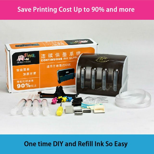 Continuous Ink Supply System CISS  DIY for HP818/60/300/121/901/703 D2568 D1668 D2668 F4288 F4238 F2418 100ml*4