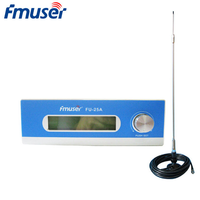 FMUSER FU-25A 25W FM Broadcast Transmitter FM Exciter+CA200 Car Sucker Antenna Kit For Drive-in Movie Theater Church Parking Lot
