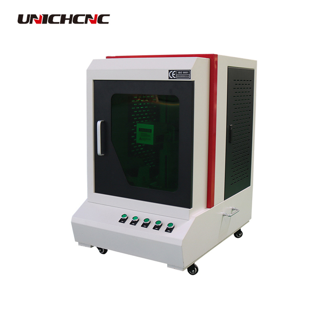 Full cover small size stainless steel color fiber marking machine