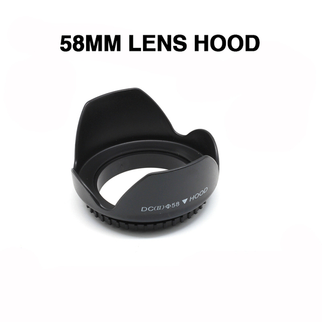 EDMTON 58 mm Camera Lens Hood Screw Mount Petal Crown Flower Shape For Canon Nikon Sony SLR Camera LENS