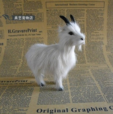 simulation sheep ,13x11cm white goat model polyethylene& fur handicraft,prop home Decoration xmas gift b3590