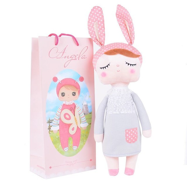 Metoo Angela plush dolls 35cm baby toy doll sweet  lovely stuffed toys Dolls for kids girls Birthday/Christmas Gift with bag