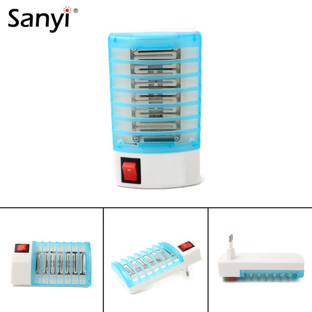 Novelty Mosquito Killer Lamp LED Socket Electric Mosquito Fly Bug Insect Trap Killer Zapper Night Lamp Lighting EU/US Plug