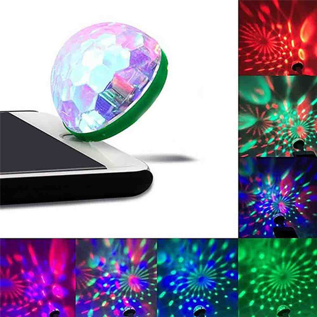 LED Car USB Atmosphere Light DJ RGB Mini Colorful Music Sound Lamp for Phone Surface Enjoy Christmas Day Gift voice control
