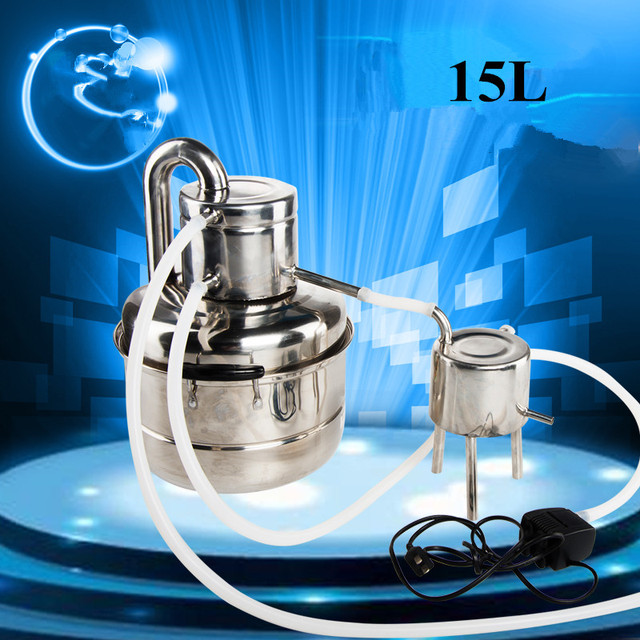 2016 NEW! DIY Moonshine Stainless Steel 15 Litre Alcohol Distillation Boiler Home Wine Brewing Equipment