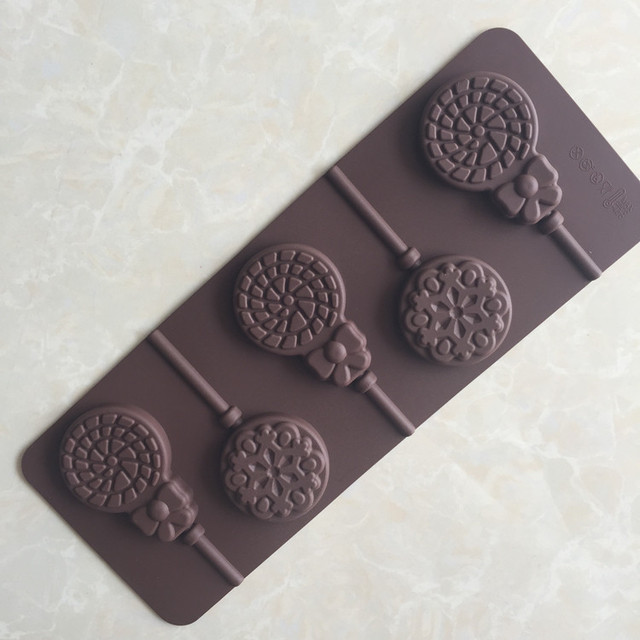 1 pcs Dandelion and hyacinth Shape Silicone Lollipop Mold, 3D Food Grade Silicone Mold, Cake Baking Decorating Mold