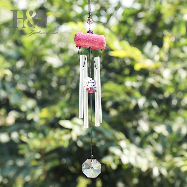 H&D Antique Amazing Grace Windchime Deep Resonant 4 Tube Chapel Bells Wind Chimes Door Wall Hanging-Eastern Energies Collection