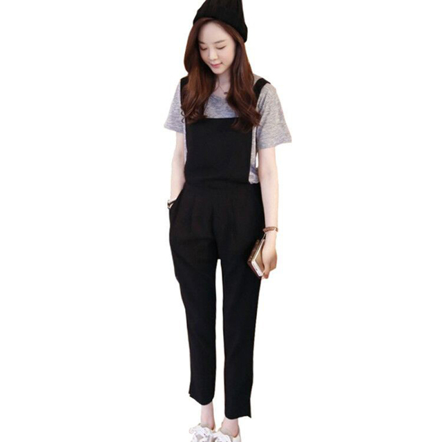Fashion Rompers Womens Jumpsuits Pocket Vintage Sleeveless Backless Casual Loose Solid Overalls Strape Slim Paysuits Large Size