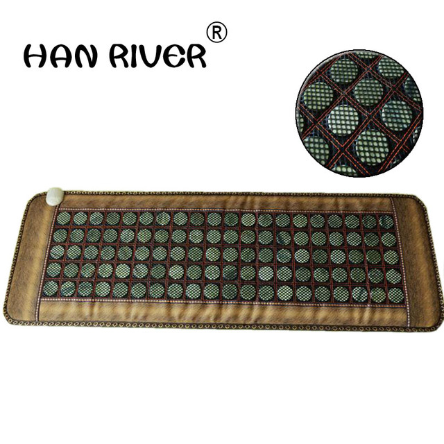 2015 heated mat therapy jade stone bed mattress therapy heating jade mattress thermal jade mattress 50*150CM