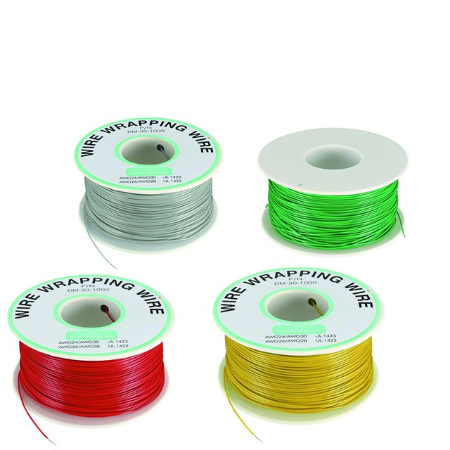 30 AWG Wrapping Wire Colors Single Strand Copper Cable Ok Wire Electrical Wire for Laptop Motherboard PCB Solder