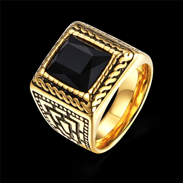 2018 New Fashion Accessories Punk Black Ring Size 7-10 Party Luxury Jewelry  Antique Rings Gifts For Men And Women Finger Ring