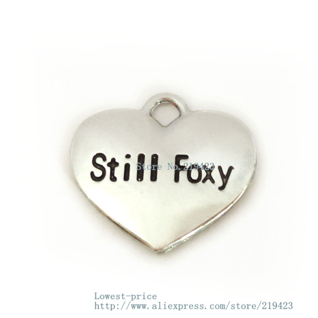 wholesale 100pcs/lot still foxy  Hang Pendant Charm fit necklace cell phone charms