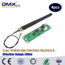 Free Shipping 4pcs  2.4G led stage light led move head wireless dmx pcb module frequency  control