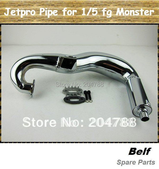 Rc Car Pipe,Jetpro silenced Pipe for 1/5th fg Bigfoot Truck +Free Shipping