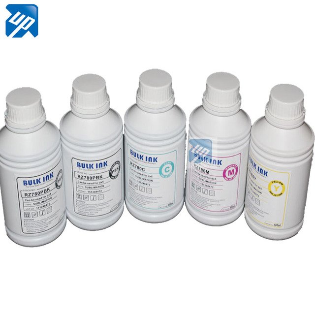 5 x 1L high quality dye sublimation ink used for  Epson Stylus B1100 BX310FN D120 printer  T0711