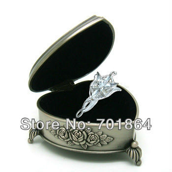 Free Shipping - The Arwen Evenstar Pendant Necklace Movie Jewelry Heart Gift Metal Case Packed