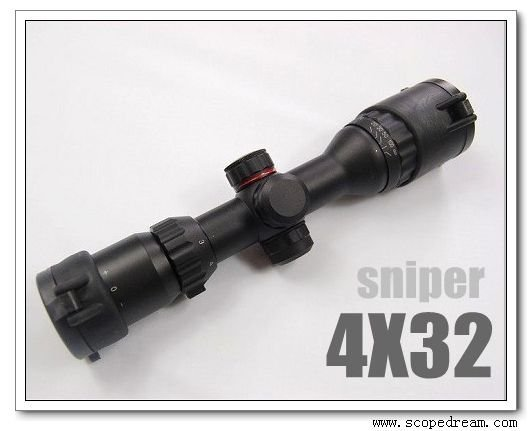 4X32 Compact Scope with Airgun/.22 Rings