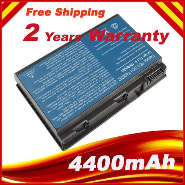 6CELL Replacement Battery TM00741 TM00751 GRAPE32 FOR ACER Extensa 5620G 5210 5220 TravelMate 5310 5320 5520 5720