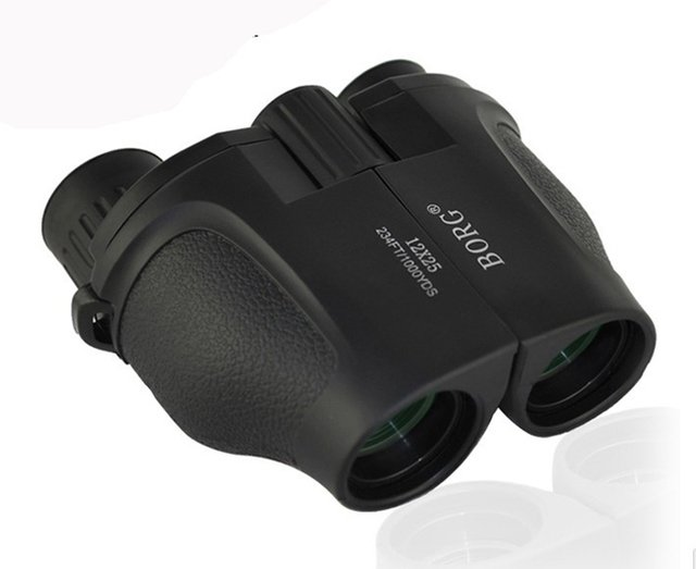 BORG 12X25 high power binocular telescope green film HD Pocket waterproof little night vision 100 non infrared