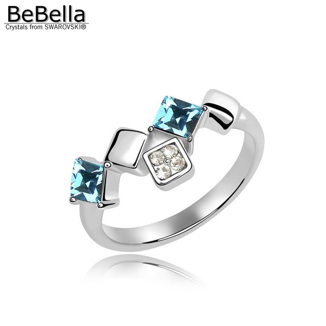 BeBella crystal ring of wedding jewelry made with Austrian crystals from Swarovski color size optional for girls Christmas gift