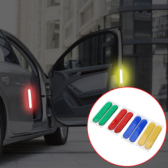Car Door Sticker Car Sticker Universal Car Reflective Stickers Reflective Strips Decal Motorcycles Cars 2pcs