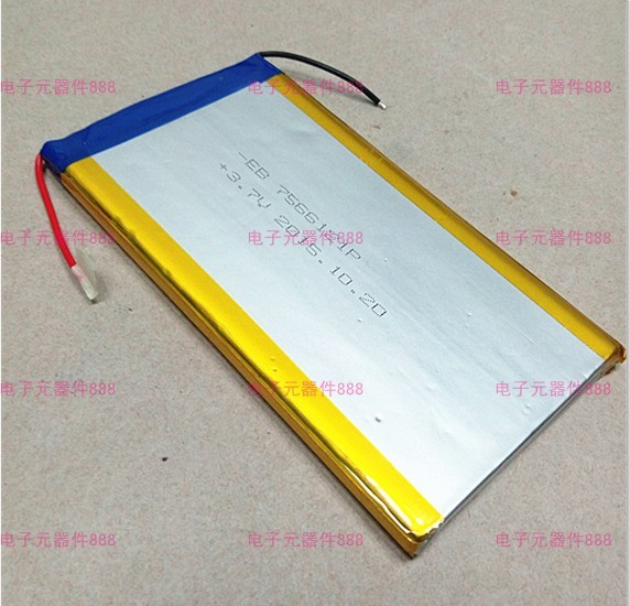 3.7 V polymer lithium battery 7566121 8000MAH mobile power Tablet PC DIY Rechargeable Li-ion Cell Rechargeable Li-ion Cell
