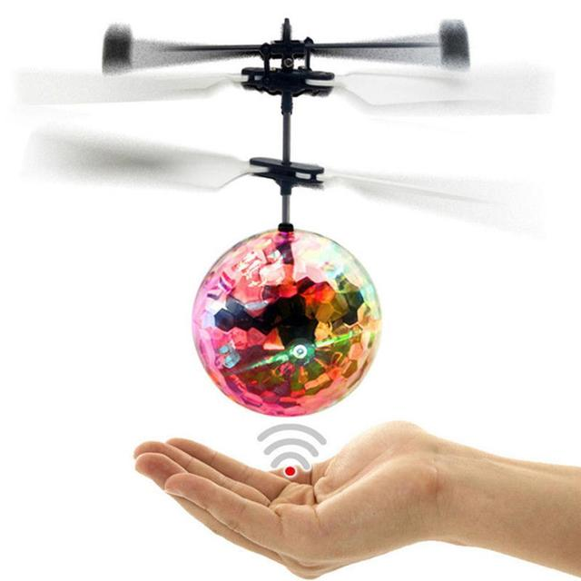 2019 RC Flying Ball Luminous Kid's Flight Balls Drone Electronic Infrared Induction Glowing Ball Toys Gift for Kids Dropshipping