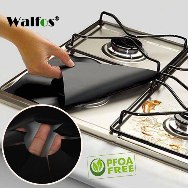 Walfos 2pcs/Lot Reusable Gas Range Stovetop Burner Protector Liner Cover For Cleaning Kitchen Tools