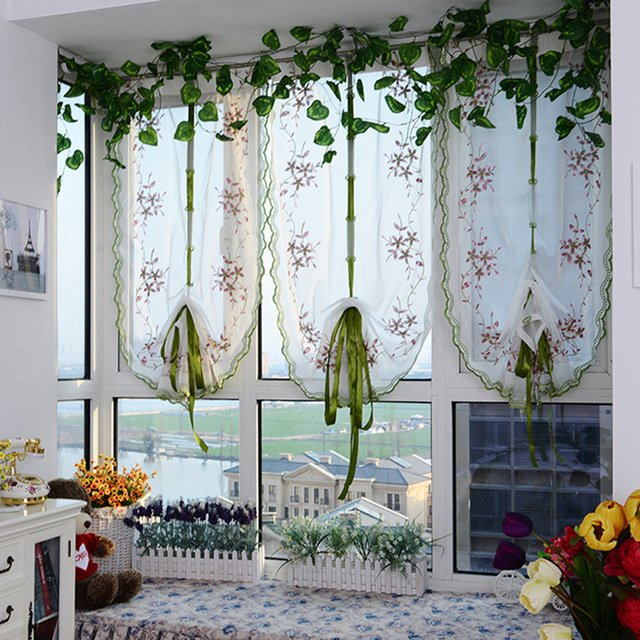 Weekend Luxury Embroidered Sheer Curtain for Living Room and Bedroom Room Modern Polyester Window Tulle Curtain Panel Home Deco