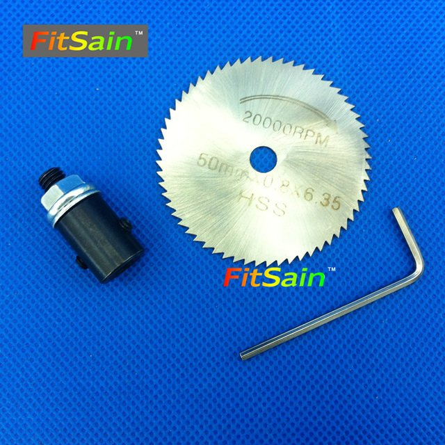 FitSain--Used for motor shaft 4mm/5mm/6mm/8mm Saw Blades Wood Cutters 50mm circular saw blade cutting disc Adapter coupling bar