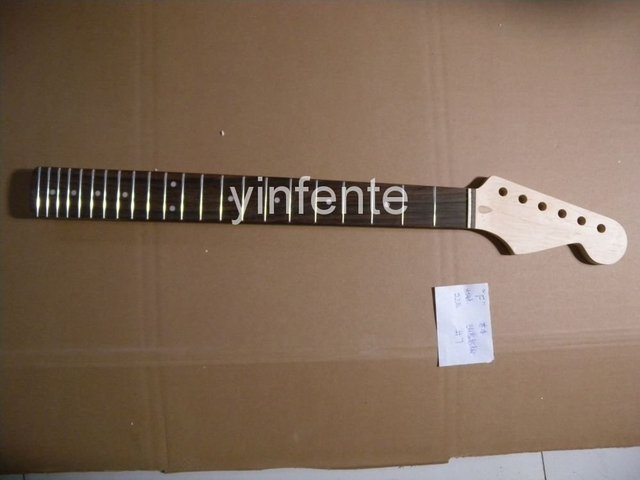 New High Quality Unfinished electric guitar neck Maple wood Body &  fingerboard   model 1pcs #6