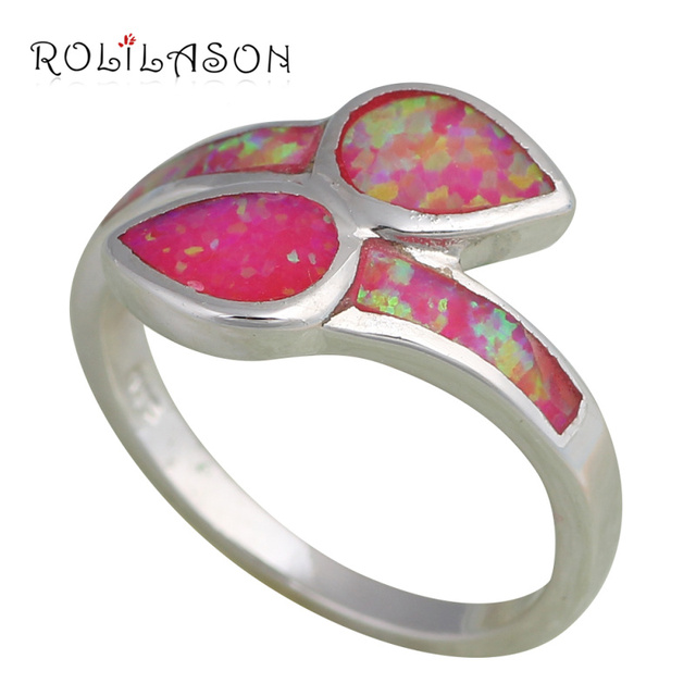 Party gifts ! Cute design Purple fire Opal Silver stamp Rings fashion jewelry USA size #6.5 #6.75 #7.75 OR430