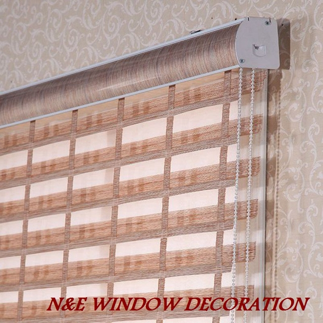 FREE SHIPPING Popular zebra blinds/double-layer roller blinds/curtain fabric curtain window curtain/shangri-La blinds
