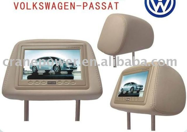 "2 pcs 7"" Headrest Monitor For VOLKSWAGEN-PASSAT as Car Pillow"