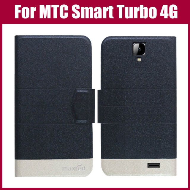 Hot Sale! MTC Smart Turbo 4G Case High Quality 5 Colors Fashion Flip Ultra-thin Leather Protective Cover Phone Bag
