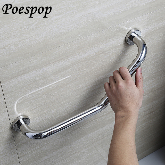 POSEPOP Wall Mounted Bathroom Grab Bars for Elderly Safety Helping Handle 304 stainless steel Toilet Bathtub Handrail Chromed