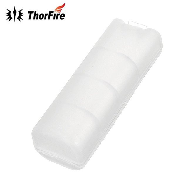 New Arrival 1 x 18650 Battery Hard Protected Portable Plastic Storage Box Case Practical Durable PP White Holder Light Accessory