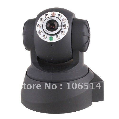 Free shiping Wireless IP Camera webcam Web Camera Wifi Network IR NightVision P/T Rotation EasyN With Color BOX