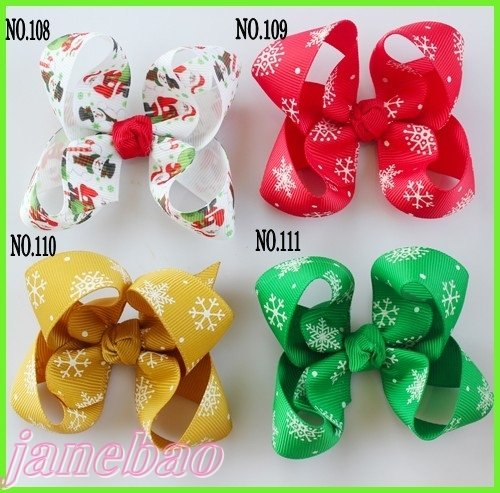 free shipping 220ps mix color 3.5''  Boutique hair bows hair clips  popular hair accessories  3c